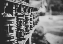 Prayer Wheels At Temple