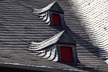 Dormer Windows On Old Residential Building