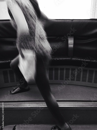 Fototapety, obrazy: Low Section Of Passenger At Railroad Station