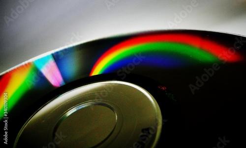 Obraz Close-up Of Compact Disc - fototapety do salonu
