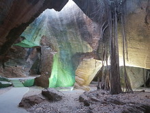 View Of Rock Formation In Cave