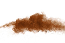 Coffee Explosion Isolated On W...
