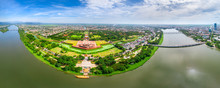 Aerial View Of The Hue Citadel...