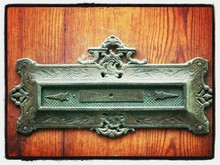Close Up Of Mail Slot