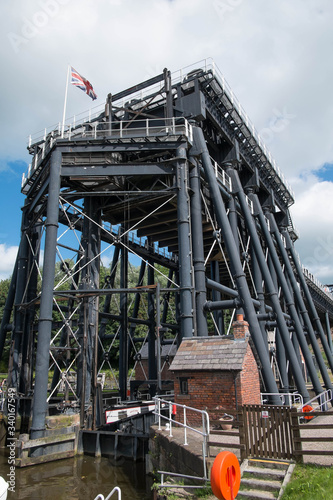 Anderson Boat Lift Northwich  close up 2 Canvas Print