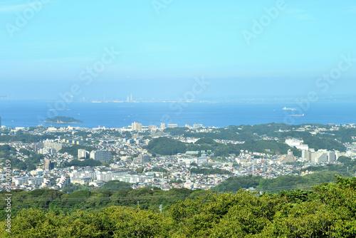 東京湾 猿島 横須賀市大楠山の風景 Canvas Print