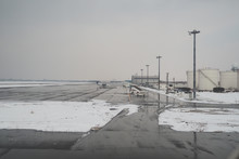 The Runway Was Covered In Snow...
