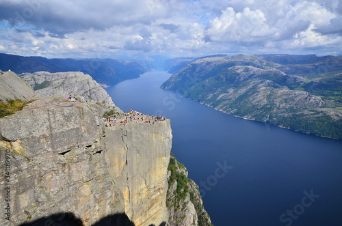 Fotografiet Natural landscape of Preikestolen, Norway