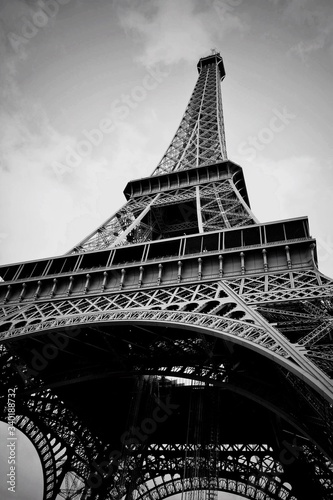 Low Angle View Of Eiffel Tower Against Sky #340188732
