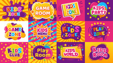 Kids Game Zone Banner. Childre...