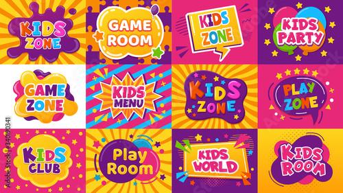 Tablou Canvas Kids game zone banner
