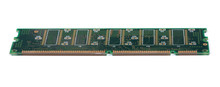 Green Stick Of RAM Memory For Computer With Electronics Components