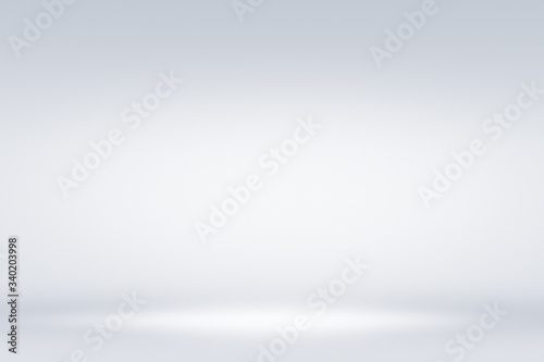 Abstract blurry silver gradient background suitable for tabletop product photography, horizontal shot