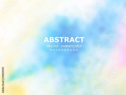 Abstract pastel background, hand made soft aquarelle watercolor gradient Canvas Print