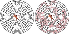 Maze Game For Kids Help The Mo...