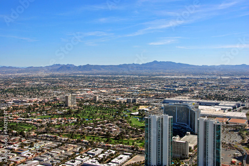 Skyline cityscape of the suburbs of Las Vegas Nevada USA Canvas Print