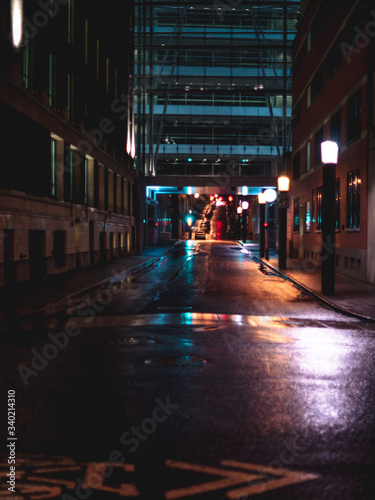 Fototapeta Street Lights In City At Night obraz na płótnie
