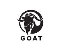Circle Simple Head Goat Art Logo Design Inspiration