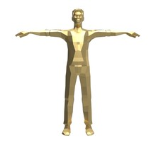 3d Illustration Of The Low Poly Man