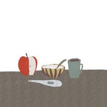 体温計とりんごとボウ...