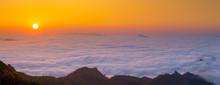 Amazing Sunrise Over Misty Lan...