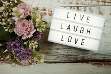 Live Laugh Love Word In Light ...