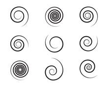 Spiral And Swirl Motion Twisti...