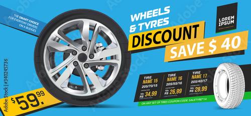 Photo Tire car advertisement discount