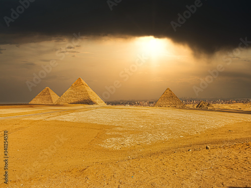 The famous pyramids at Giza in Egypt #340254570