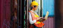 Portrait Of Women Worker Use L...