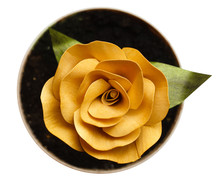 Unfading Yellow Rose Made Of  ...