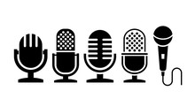 Microphone Vector Icon Collect...