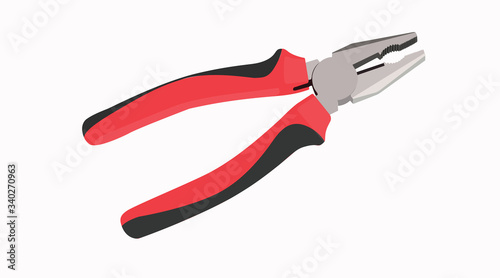 Photo Vector Isolated Illustration of Pliers