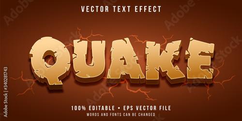Editable text effect - earthquake style Canvas-taulu