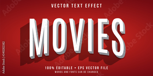 Editable text effect - movie title style Canvas-taulu
