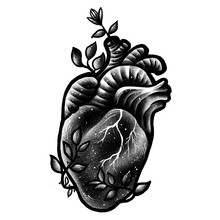 Heart Tattoo Design Illustration