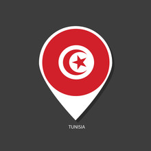 Tunisia Flag Vector Marker Wit...