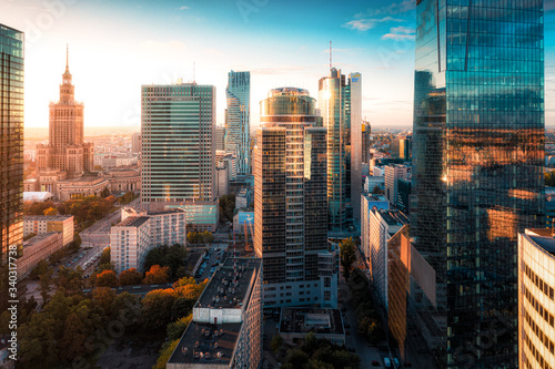 Fotografia, Obraz Warszawa z lotu ptaka