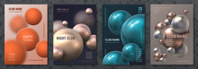 Abstract Sphere Poster. Modern...