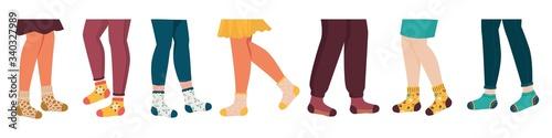 Legs in socks Canvas Print