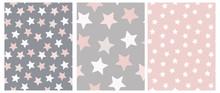 3 Varius Star Vector Patterns....