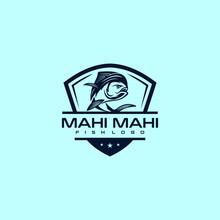 Mahi Mahi Fish Logo Design. Awesome Mahi Mahi Fish Logo. Mahi Mahi Fish Logotype.