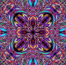 Multicolored Purple Kaleidosco...