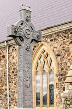 Old, Intricately Carved Irish ...