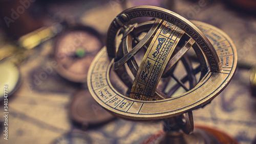 Obraz Celestial Sphere Sundial Zodiac Sign  - fototapety do salonu