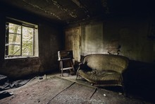 Abandoned Room With A Broken S...