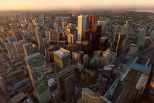 High Angle View Of Toronto City