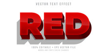 Editable Text Effect - Heavy Red Text Style