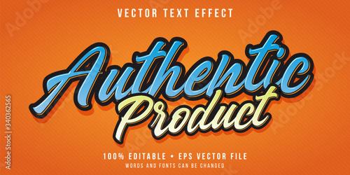 Fototapeta Editable text effect - promotional script text style obraz