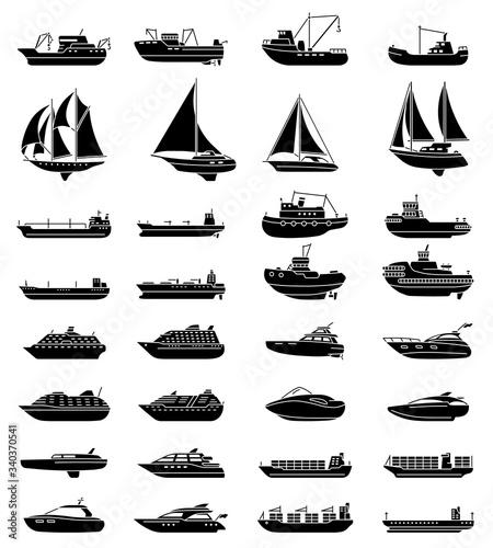 Fotografia Ships and boats set